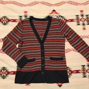 Pendleton fair isle cardigan merino wool small